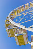 Underneath a ferris wheel Stock Image