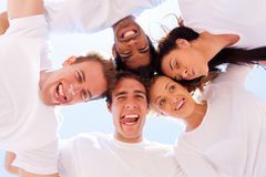 Underneath friends funny Royalty Free Stock Photo