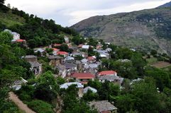 Cërnalevë village is located in Kukës, northeastern Albania Royalty Free Stock Photos