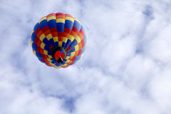 Underneath hot air balloon Stock Photography