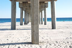 Underneath the pier Royalty Free Stock Photography