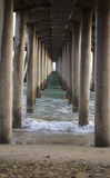 Underneath a pier Stock Photography