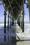 Underneath the pier Stock Photo