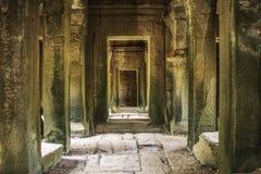 The Hidden Pathway Of Angkor Wat stock photography