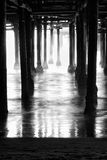 Underneath Santa Monica Pier Stock Photo