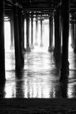 Underneath Santa Monica Pier Stock Photo