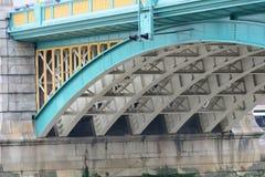 Underneath southwark bridge Stock Photo