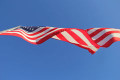 Underneath a United States Flag Royalty Free Stock Photos