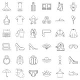 Underpants icons set, outline style. Underpants icons set. Outline style of 36 underpants vector icons for web isolated on white background Royalty Free Stock Photo