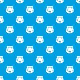 Underpants retro pattern vector seamless blue. Repeat for any use Stock Photography