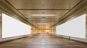 Underpass with blank billboard advertising wall Royalty Free Stock Photos