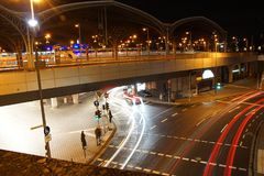 An underpass in Cologne. Long exposure of an underpass in Cologne, under the main station Stock Photography