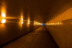 Underpass empty and light bulbs Stock Photo