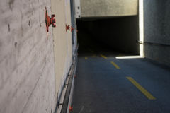 Underpass entrance in europe nobody dark. Underpass entrance in europe nobody to see with no lights Stock Photography