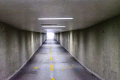 Underpass in europe nobody. To see with lights on Royalty Free Stock Photography