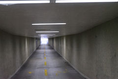 Underpass in europe nobody. To see with lights on Stock Images