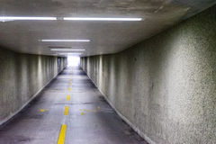 Underpass in europe nobody. To see with lights on Royalty Free Stock Photo