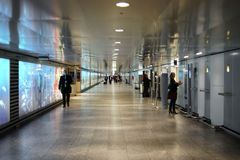 Underpass Frankfurt Airport Royalty Free Stock Photography
