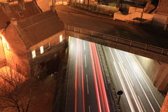 Underpass Light Trails Royalty Free Stock Photography
