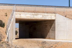 Underpass in the Madrid-Levante High-Speed Railway Stock Image
