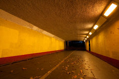 Underpass at night Royalty Free Stock Image