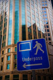 Underpass signage Stock Photography