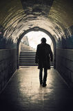 Underpassing Man Royalty Free Stock Images