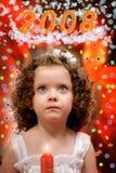 undersöka flickan little Arkivfoto