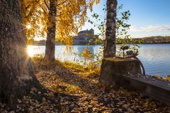 Undersökande Finland på cykeln Arkivbilder