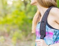 undersökande natur för flicka Fotografering för Bildbyråer