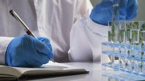 Undersökande prövkopior för forskare med växter lager videofilmer