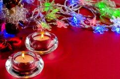 undersöker julsammansättning Arkivbilder