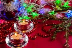 undersöker julsammansättning Royaltyfri Bild