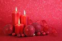 undersöker röd jul royaltyfri foto