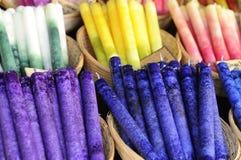 undersöker färgrika den medeltida esslingenmarknaden Royaltyfri Fotografi