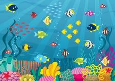 undersea иллюстрация вектора