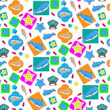 Undersea animal seamless pattern. Eps 10 vector Stock Images