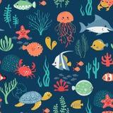 Undersea life pattern Royalty Free Stock Image