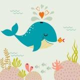 Undersea love Stock Images