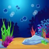 undersea Marine Life Landscape - l'oceano Immagine Stock Libera da Diritti