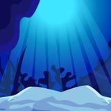 undersea Marine Life Landscape - l'oceano Immagine Stock