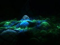 Undersea_world. Fractal fantastic rocks under water Royalty Free Stock Photo