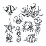 Undersea World Set stock illustration