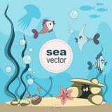 Undersea world vector Stock Photo