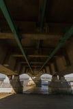 Undersida av den andra Severn Crossing, bro över Bristol Cha Royaltyfri Fotografi
