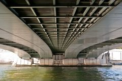 Underside of Alma Bridge Royalty Free Stock Photography