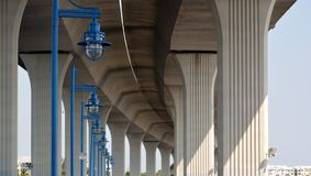 Underside Architectural Bridge Royalty Free Stock Photography