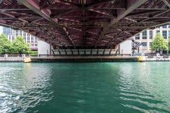 Underside of Bridge in Chicago Stock Image