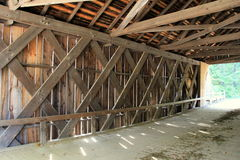 Underside of covered bridge Stock Image