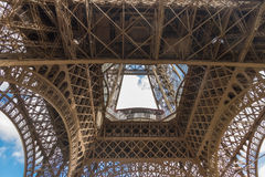 Underside of the Eiffel Tower Royalty Free Stock Image